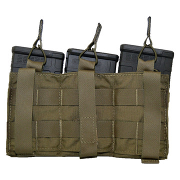 ATS Tactical Gear Slimline Triple 7.62 Shingle Rear View