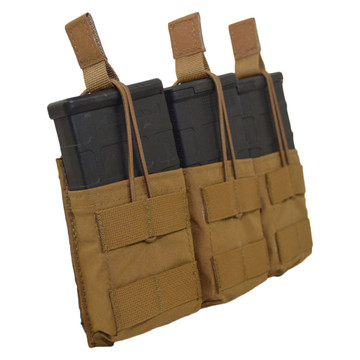 ATS Tactical Gear Slimline Triple 7.62 Shingle in Coyote Brown