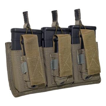ATS Tactical Gear Triple 7.62/Glock Shingle in Ranger Green