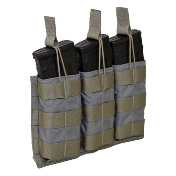 ATS Tactical Gear Triple M4 Mag Shingle in Wolf Grey
