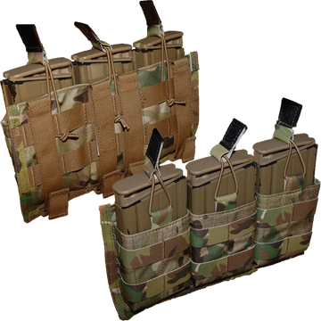 ATS Tactical Gear Triple Shingle 7.62 in Multicam (Front and Rear View)