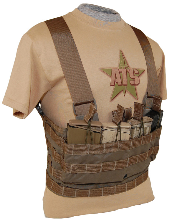 ATS Tactical Gear 7.62 Modular Chest Harness in Coyote Brown