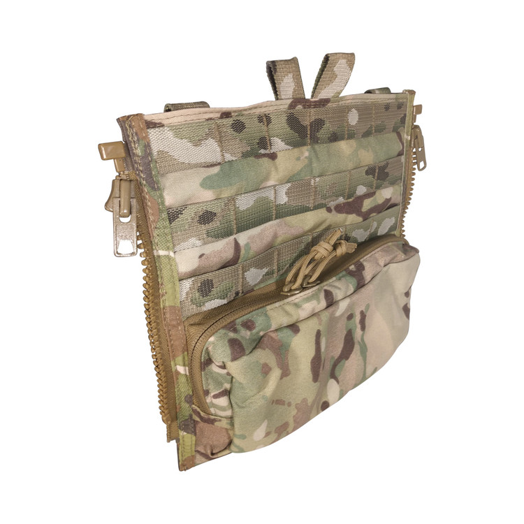 "ATS CRYE Back Panel With 9.5""X 5"" Pouch"
