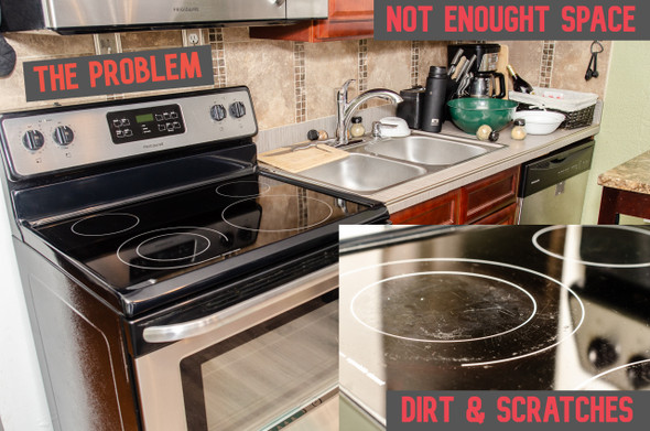 Thick Natural Rubber Sheet Protects Electric Stove Top