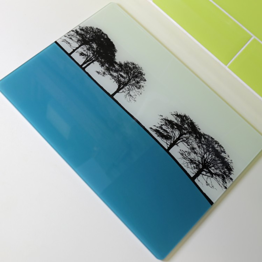 Jacky Al-Samarraie Landscape Glass Worktop Saver - Turquoise