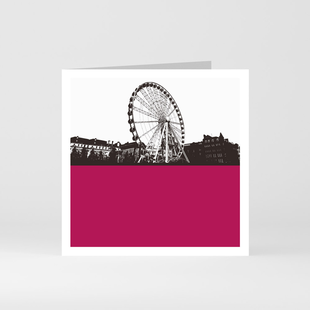 Jacky Al-Samarraie Manchester Wheel - Piccadilly Gardens Greeting Card