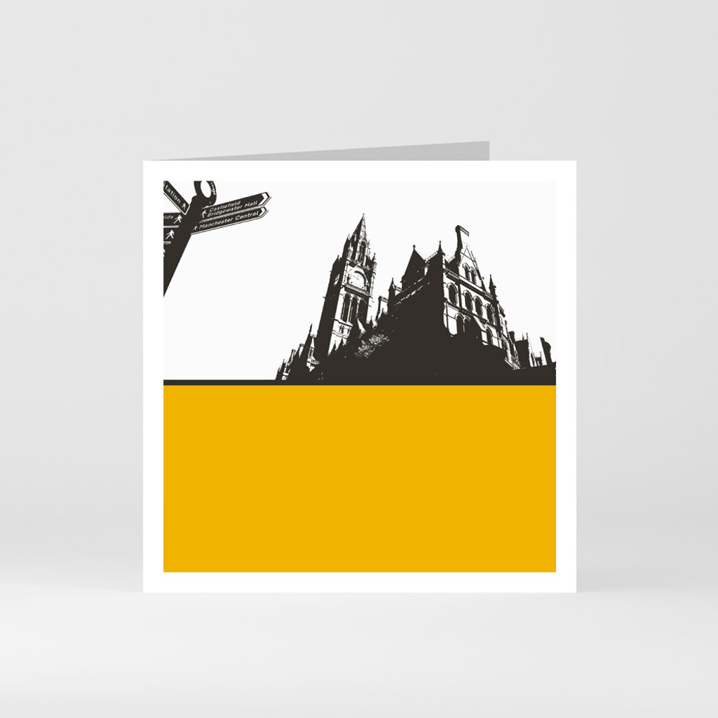 Jacky Al-Samarraie Manchester Town Hall Greeting Card