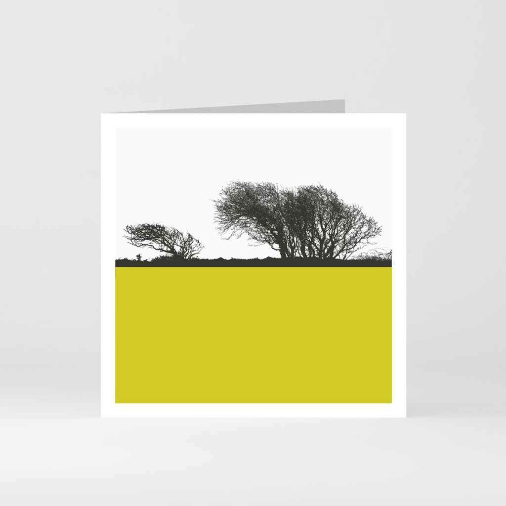 Jacky Al-Samarraie Cornwall Greeting Card of Cornish Moorland Trees