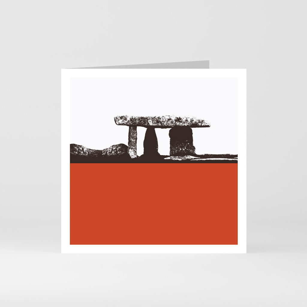 Jacky Al-Samarraie Cornwall Greeting Card of Lanyon Quoit