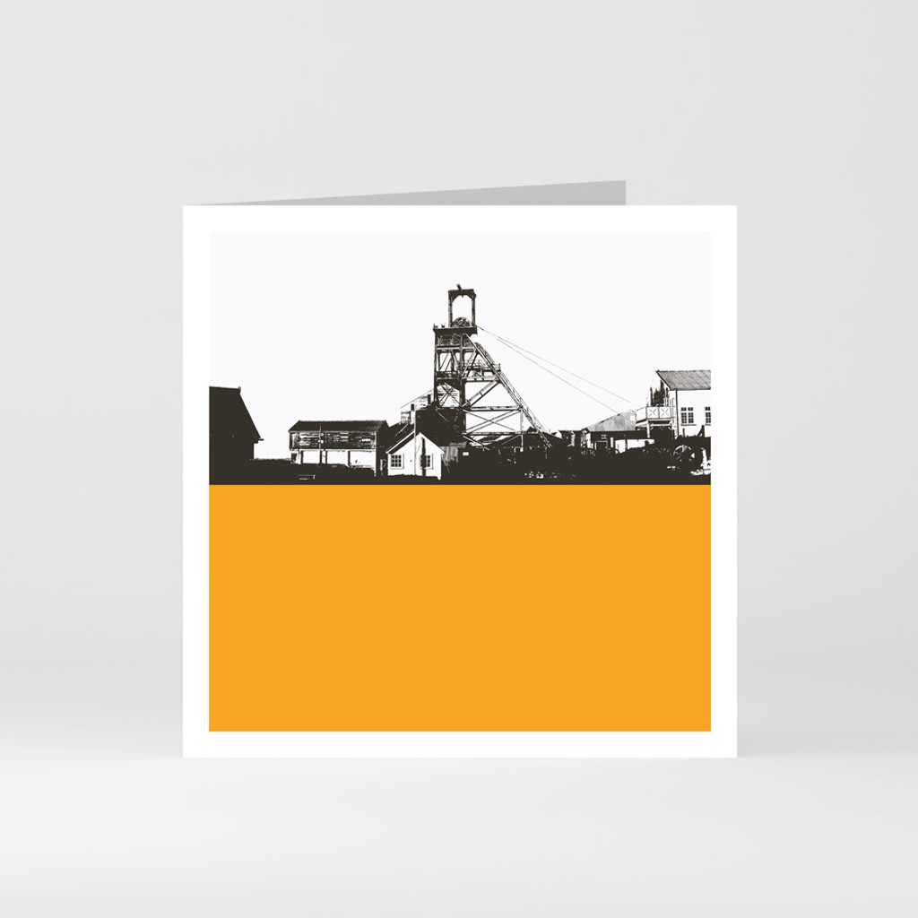 Jacky Al-Samarraie Cornwall Greeting Card of Geevor Tin Mine in Penzance