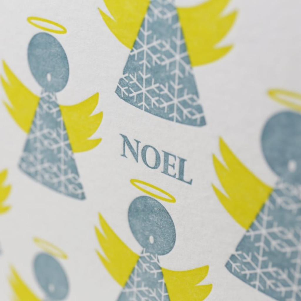 Jacky Al-Samarraie Angels Letterpress Christmas Card