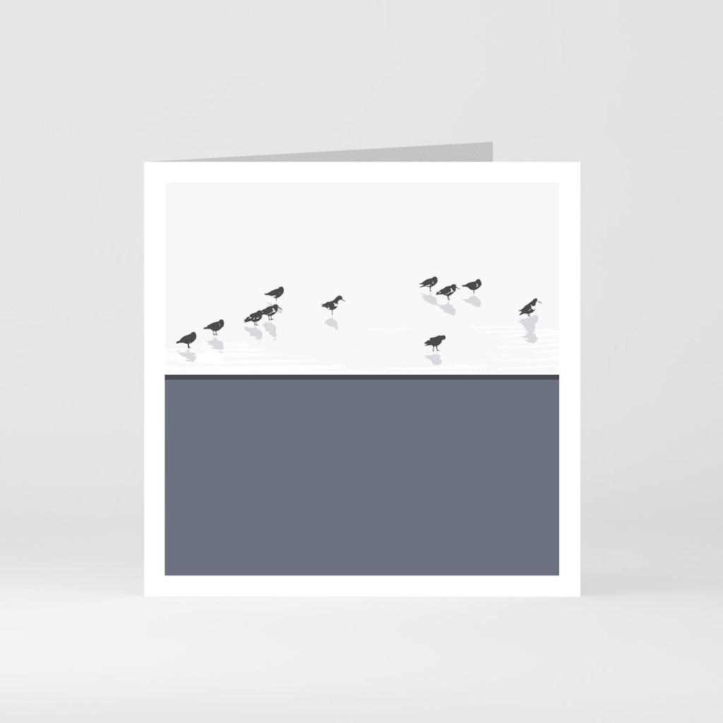 Jacky Al-Samarraie Oystercatchers Dingle - County Kerry Greeting Card