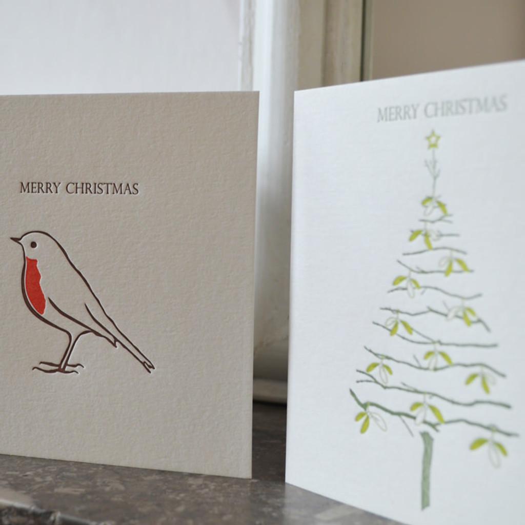 Jacky Al-Samarraie Pack of 8 Letterpress Christmas Cards - The Art Rooms
