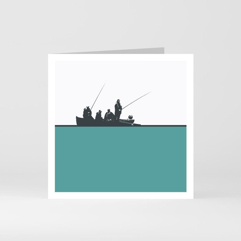 Jacky Al-Samarraie Fishing at Doolough - County Mayo Greeting Card