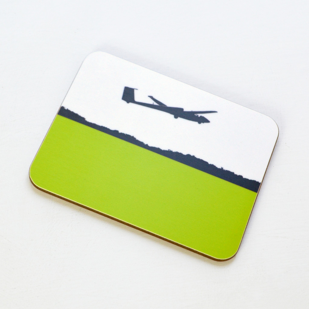 Glider Plane Melamine Coaster