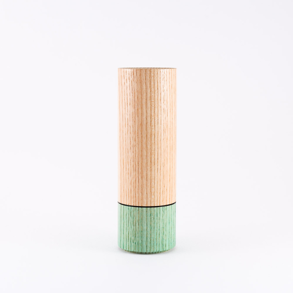 Turquoise wood stem vase by designer Jacky Al-Samarraie