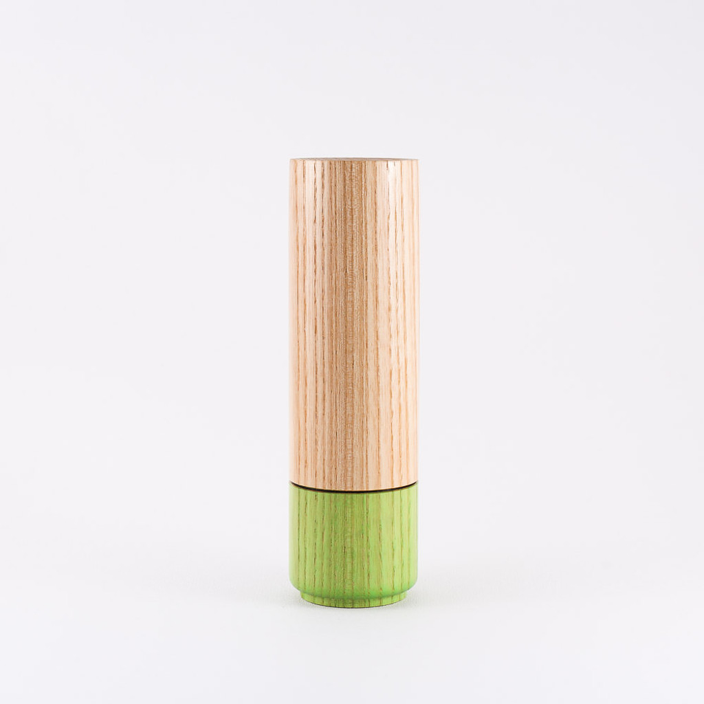 Peppermint wood stem vase by designer Jacky Al-Samarraie