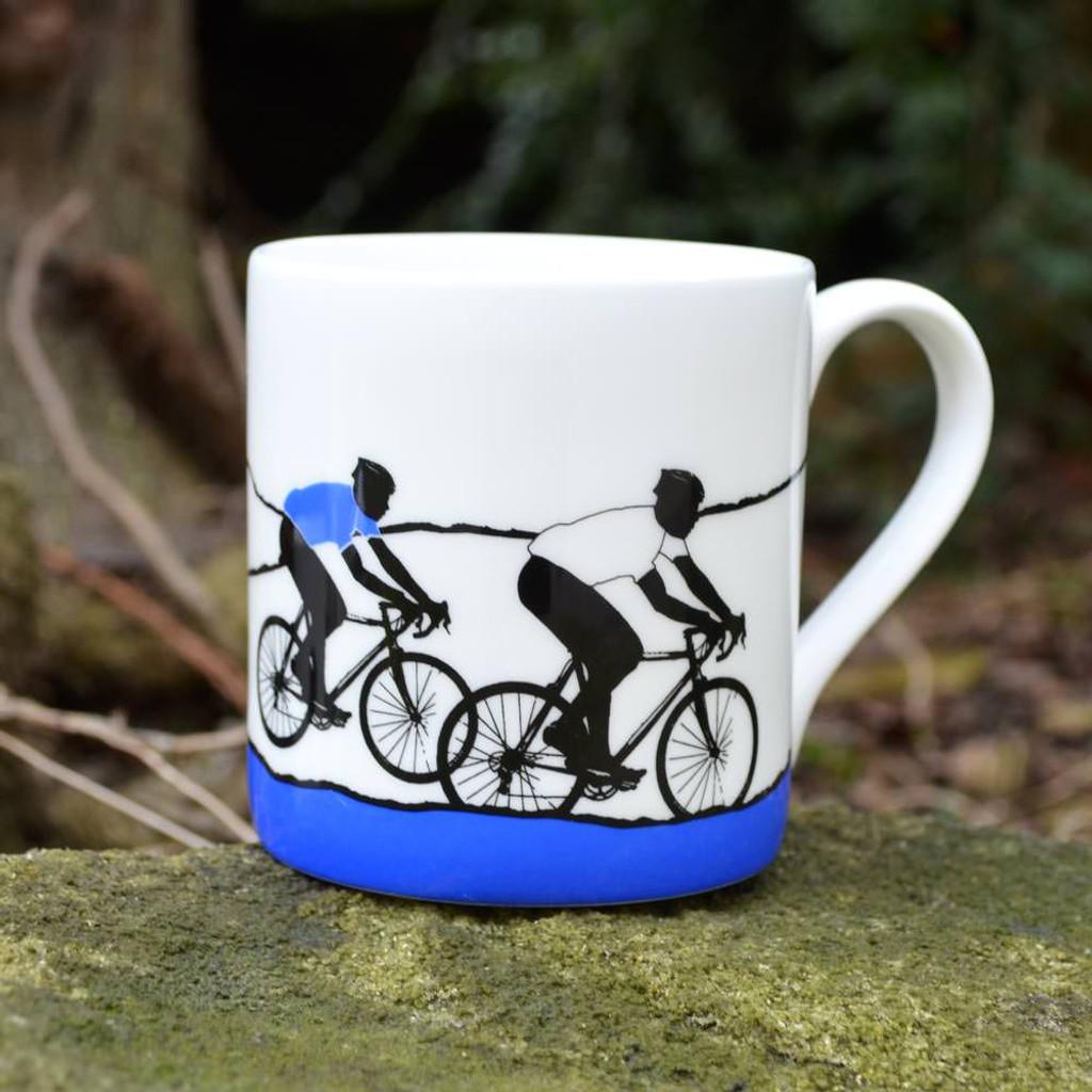 White Jersey Cycling Mug