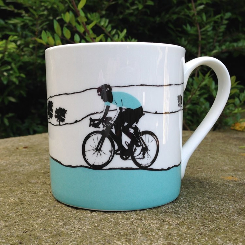 Jacky Al-Samarraie The Race Male Cyclist Bone China Mug - Slight Second