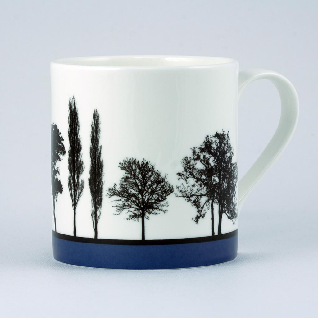 Jacky Al-Samarraie Blue Landscape Tree Bone China Mug