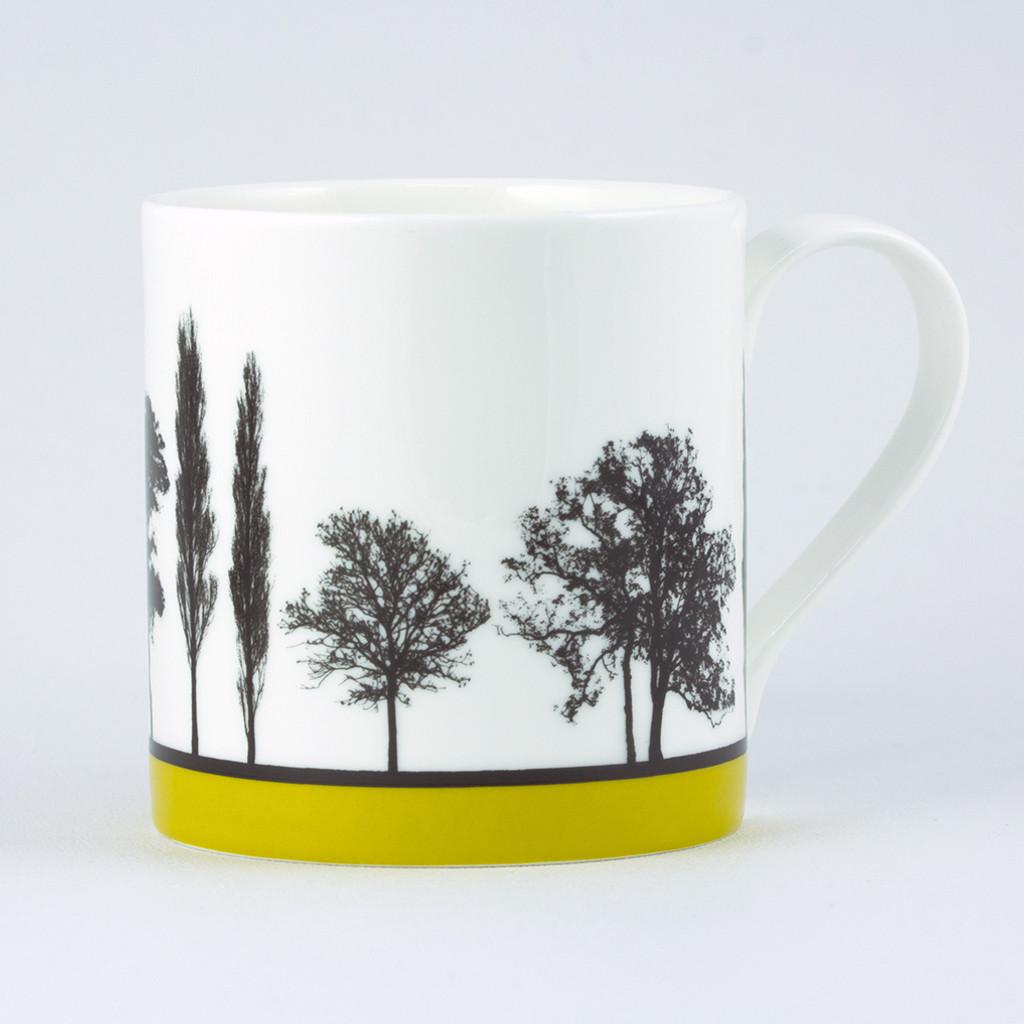 Jacky Al-Samarraie Mustard Landscape Tree Bone China Mug