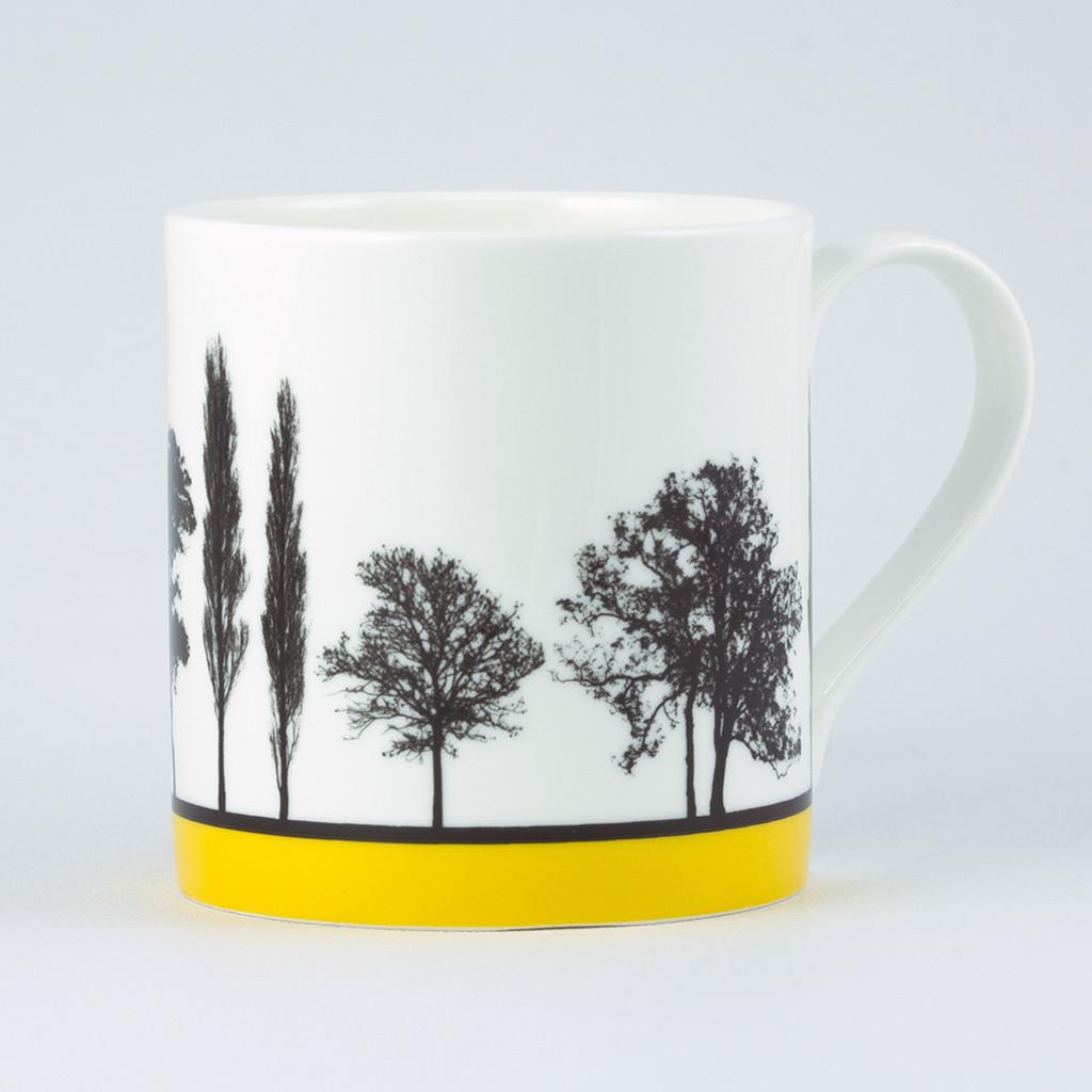 Jacky Al-Samarraie Yellow Landscape Tree Bone China Mug