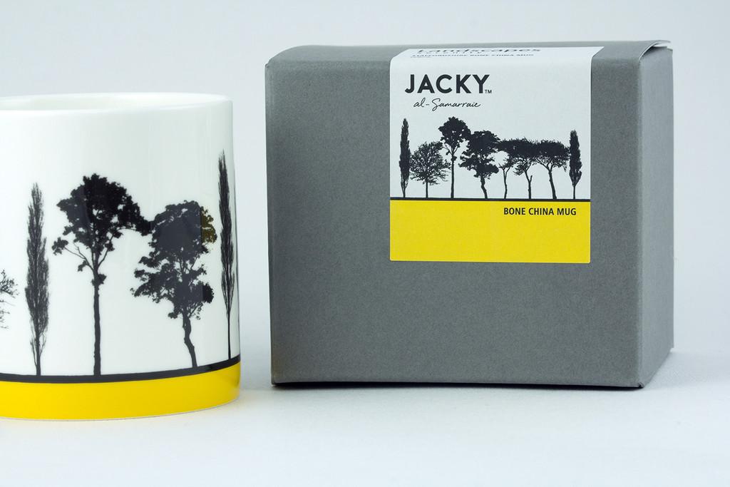 Jacky Al-Samarraie Yellow Landscape Tree Bone China Mug with Gift Box