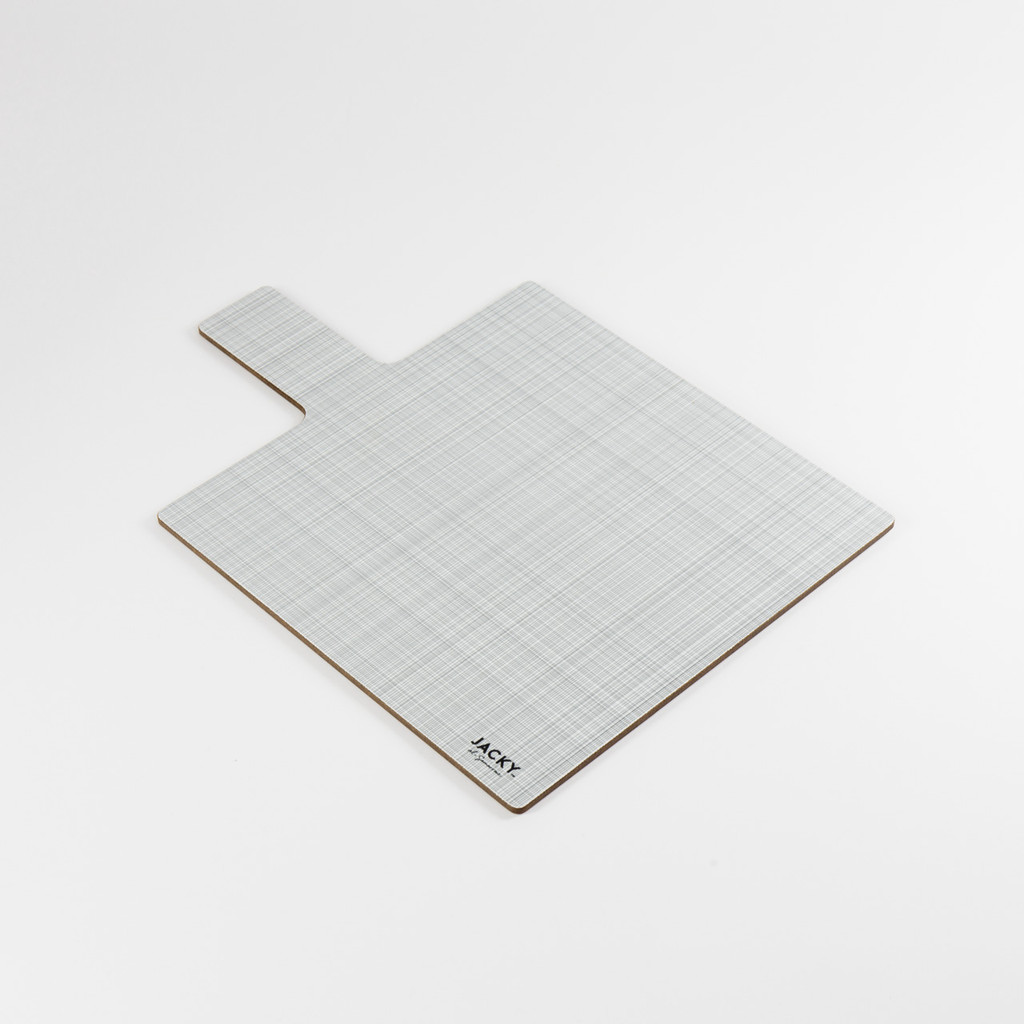 Back of square landscape melamine chopping board pattern by designer Jacky Al-Samarraie