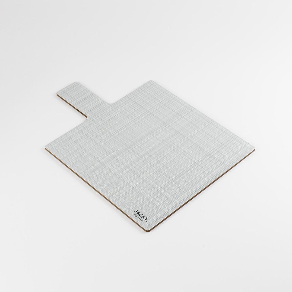 Back of square landscape melamine chopping board pattern by designer Jacky Al-Samarraie