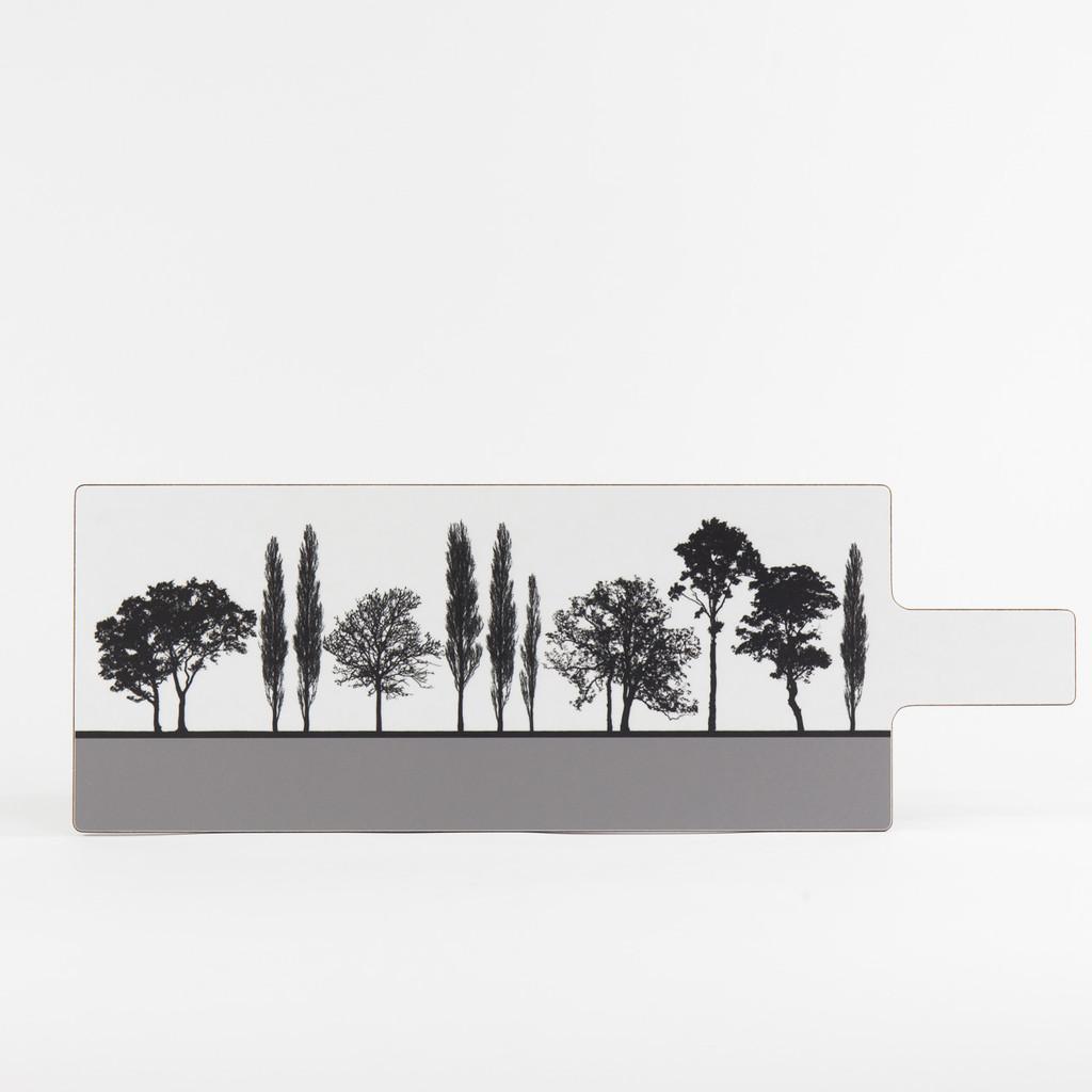 Grey British landscape melamine chopping board by designer Jacky Al-Samarraie