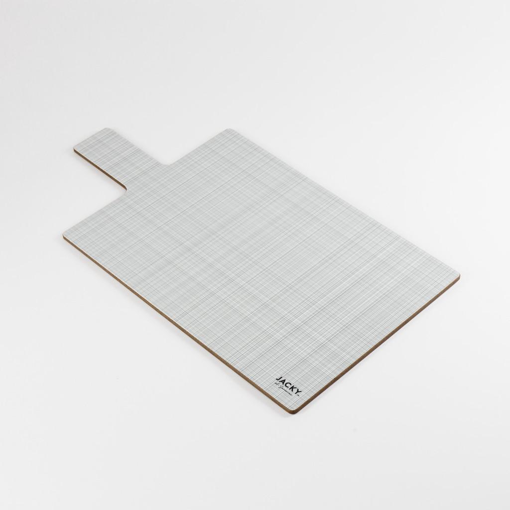 Back of rectangular landscape melamine chopping board pattern by designer Jacky Al-Samarraie