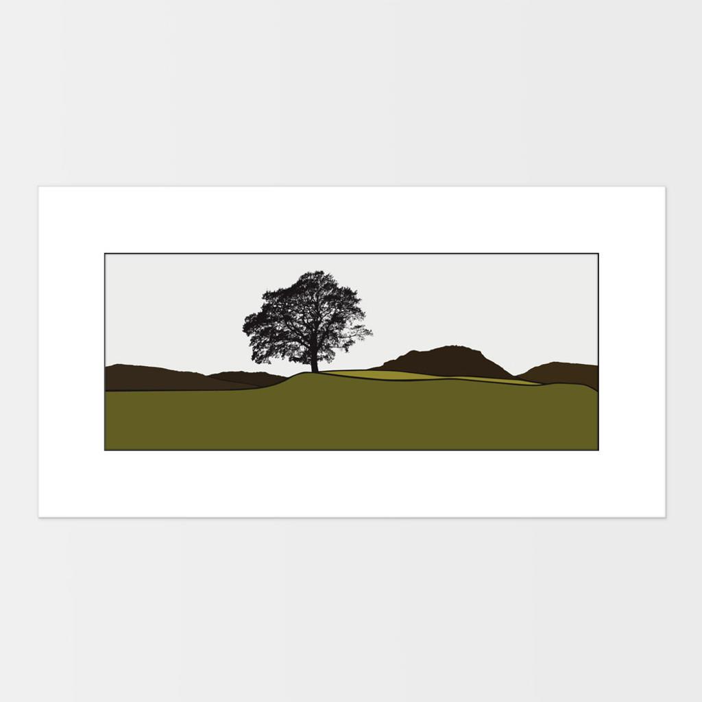 Landscape print of Grasmere in the Lake District by designer Jacky Al-Samarraie.