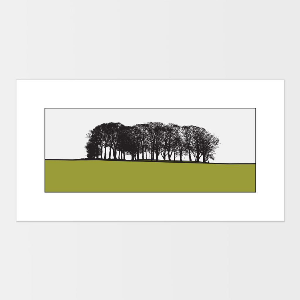 Landscape print of St. Ives in Bingley, West Yorkshire by designer Jacky Al-Samarraie.