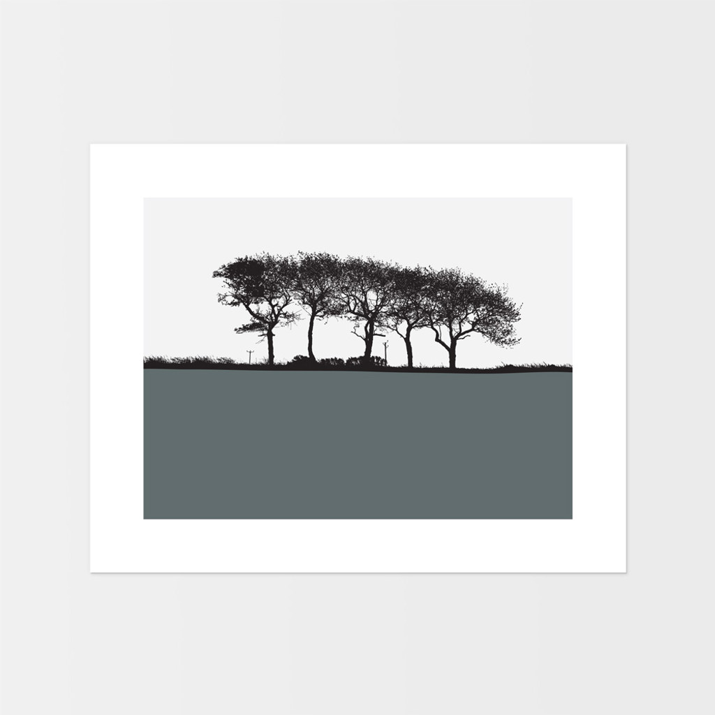 Landscape print of trees in Elgin, Moray, Scotland by designer Jacky Al-Samarraie.