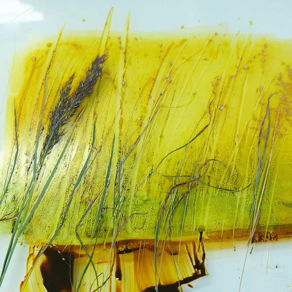 Monotype print with grasses