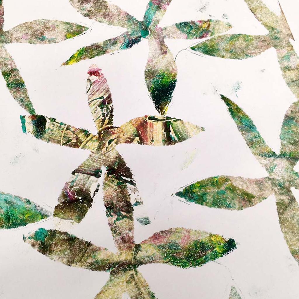 Stencil Monotype Print