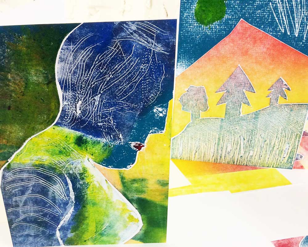 Collagraph cards
