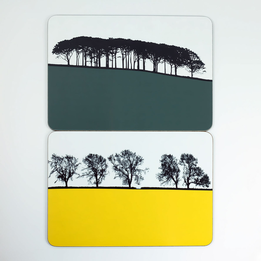 Guiseley Leeds & Masham Tablemats by Jacky Al-Samarraie at The Art Rooms