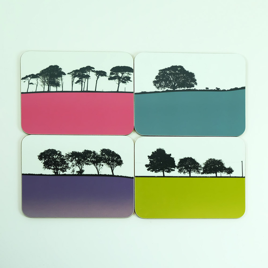 Ireland landscape set of 8 drinks coasters