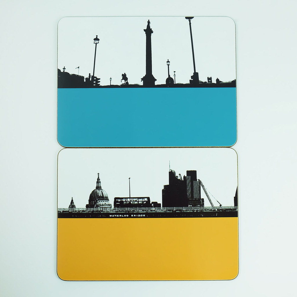 Trafalgar Square & Waterloo Bridge Table Mats by Jacky Al-Samarraie