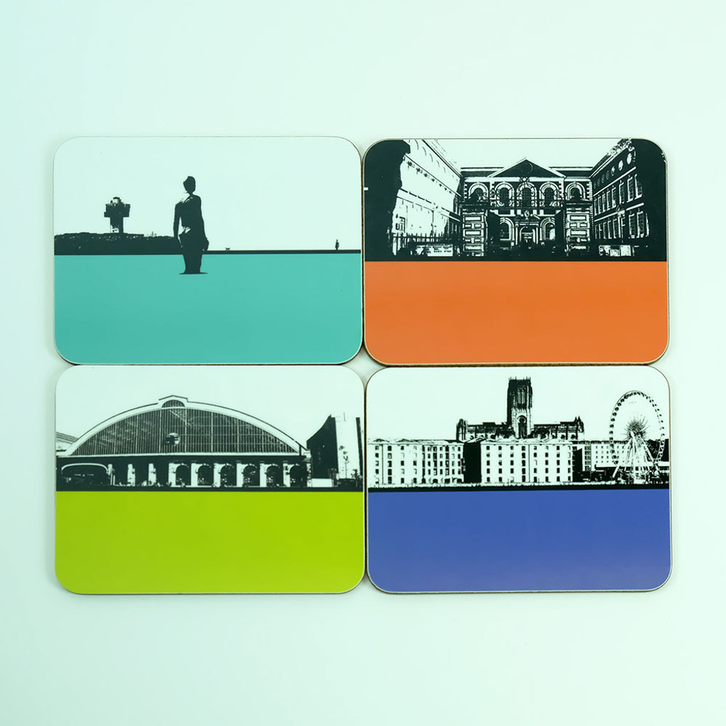 Liverpool drinks coaster gift set by Jacky Al-Samarraie