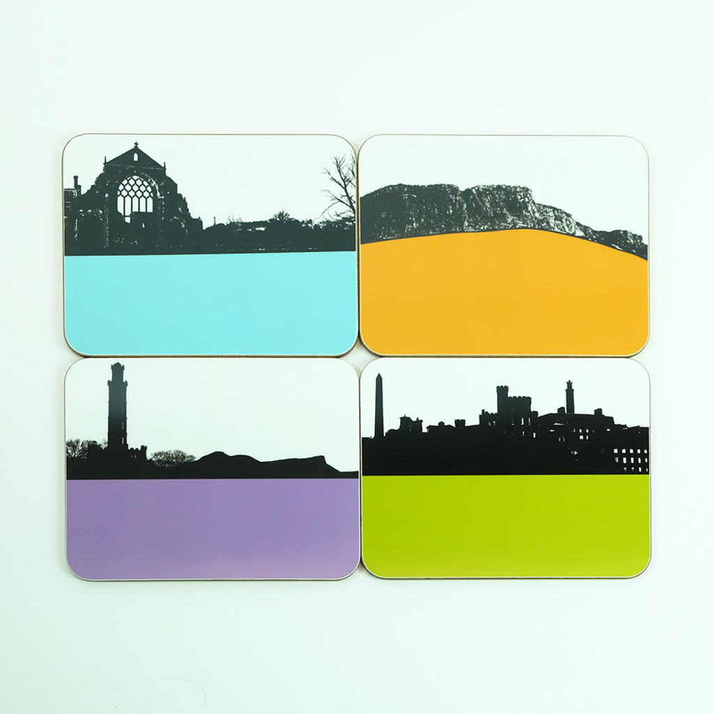 Edinburgh Coaster Set by Jacky Al-Samarraie
