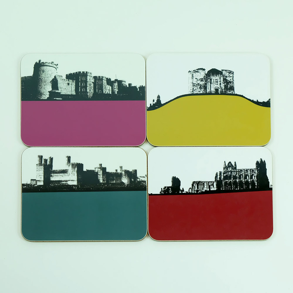 Drinks coasters of Abbey's, Castles & Cathedrals by Jacky Al-Samarraie