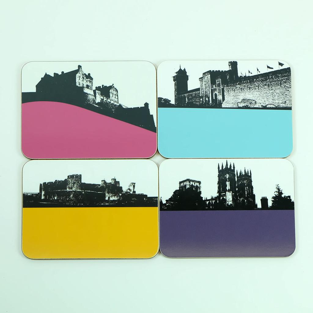 Coaster Set Abbey's, Castles & Cathedrals by Jacky Al-Samarraie