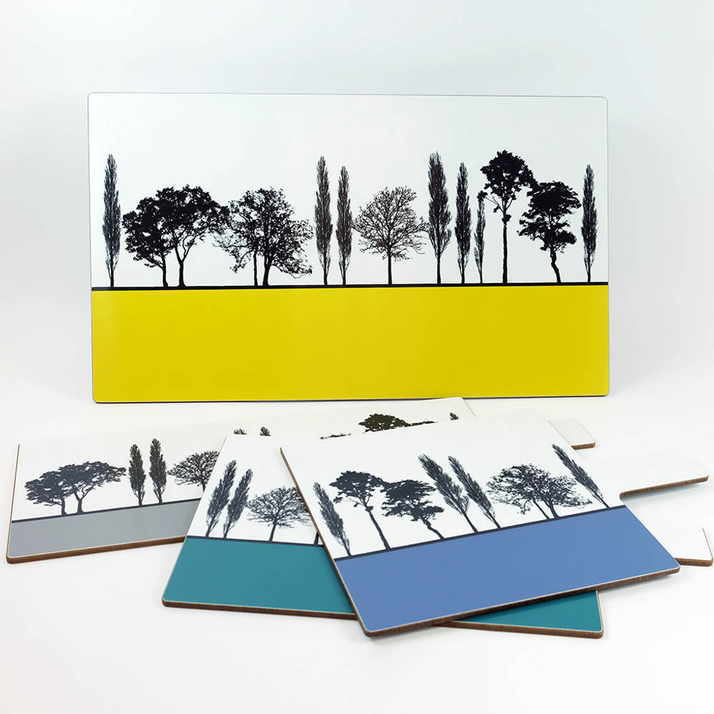 Set of Four Landscape Chopping Boards by Jacky Al-Samarraie