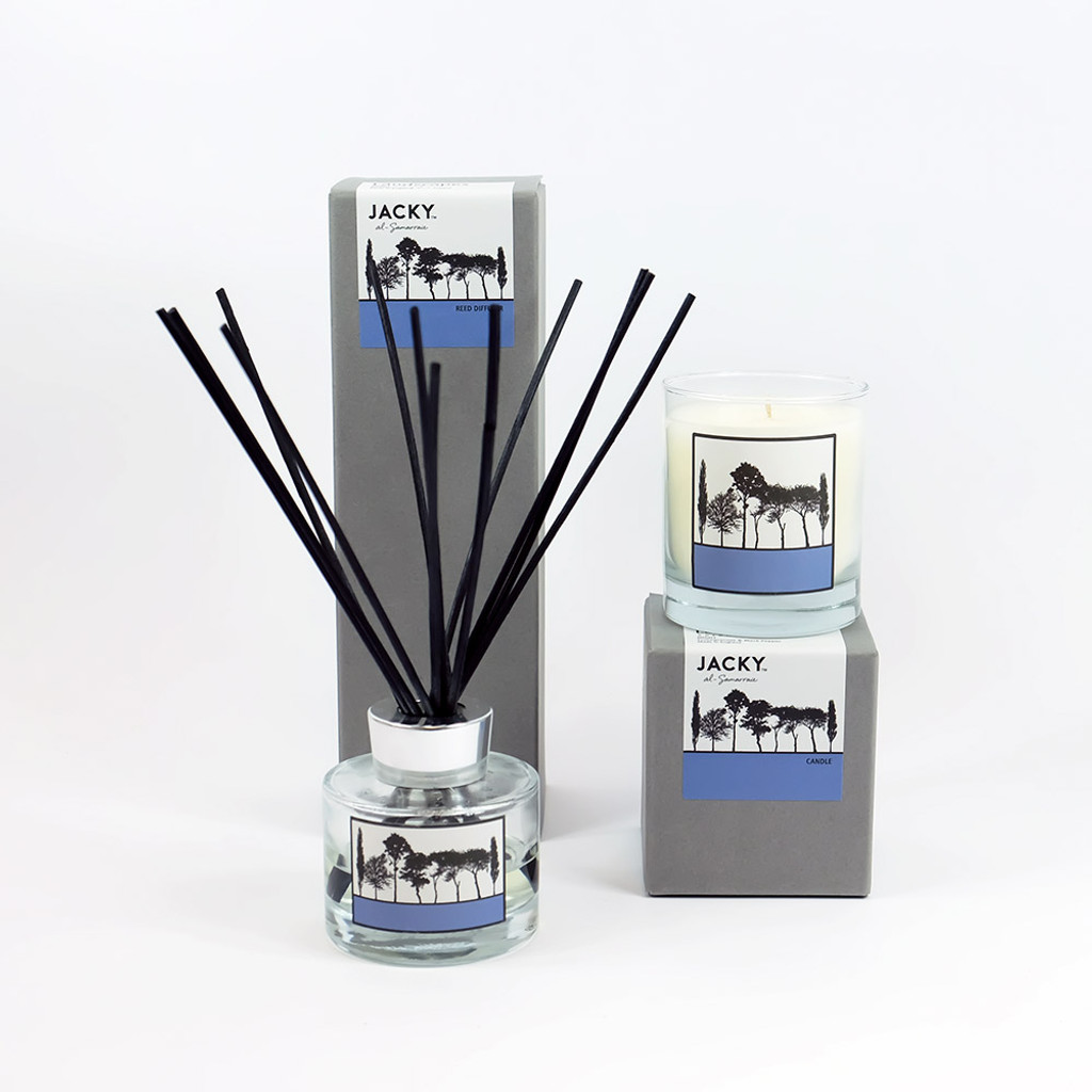 Pomegranate & Black Pepper Candle & Reed Diffuser Gift Set by Jacky Al-Samarraie
