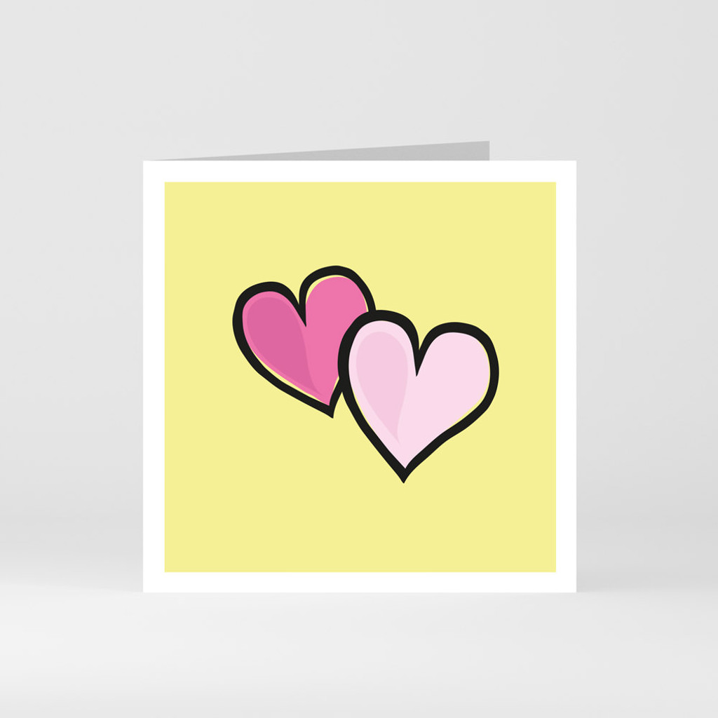A modern graphic greeting card of a heart by designer Jacky Al-Samarraie