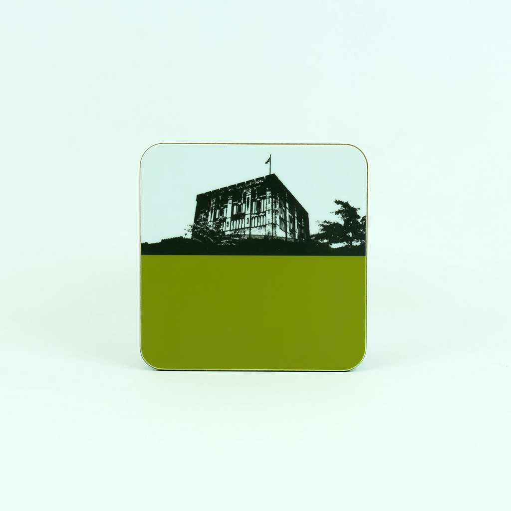 Coaster of Norwich Castle by Jacky Al-Samarraie in green.