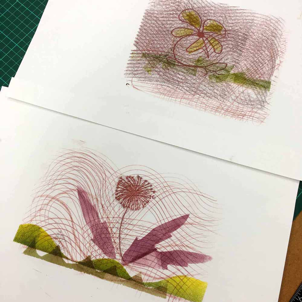 Flower monotypes - The Art Rooms workshop
