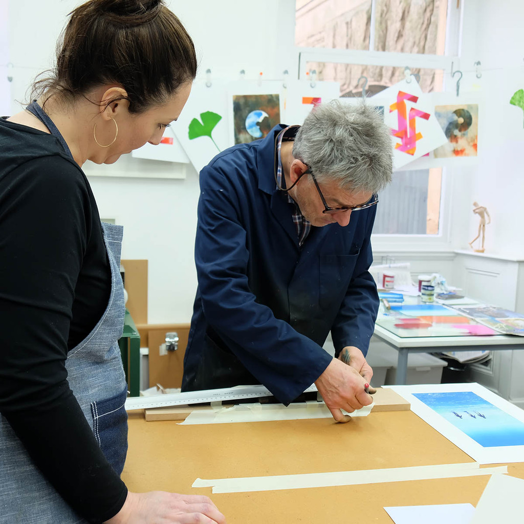 Brian Hindmarch setting type - The Art Rooms Studio